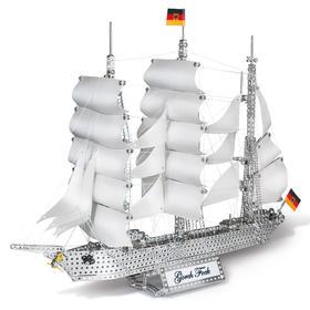 德国eitech益智拼装模型 大帆船