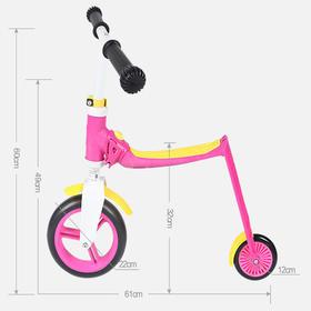 奥地利 酷骑 Scoot&Ride 滑威宝贝 儿童滑板车  Highwaybaby 蓝红色  (新款)