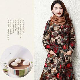 民族风女装复古棉麻外套 货号YFE1051