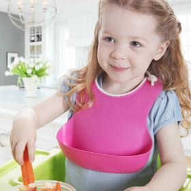 大号立体防水儿童吃饭兜婴儿软硅胶围嘴 宝宝食饭兜新生婴儿围兜