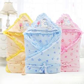 春秋冬季款婴儿包被新生儿抱被可脱内胆男女宝宝加绒加厚纯棉抱毯
