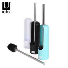 umbra 创意触感系列带底座马桶刷架套装 卫浴软毛洁厕刷子
