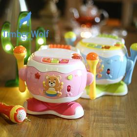 宝宝手拍鼓儿童音乐拍拍鼓益智1岁0-6-7-9-12个月婴儿玩具