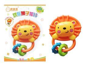 包邮赞宝贝欢乐狮子摇铃3-6-12个月新生儿卡通益智玩具摇铃V319