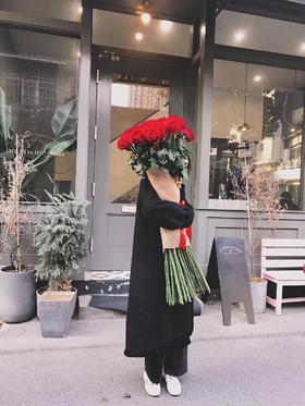 【菲集】厄瓜多尔农场直供 玫瑰花 鲜花Freedom 自由女神 120CM超长 12支高档礼盒装