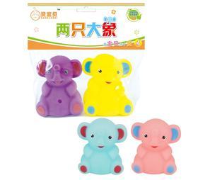 包邮赞宝贝两只大象 宝宝戏水玩具 婴儿宝宝洗澡戏水玩具V807