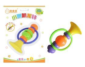 赞宝贝小喇叭摇铃3-6-12个月新生儿卡通益智玩具摇铃宝宝V317