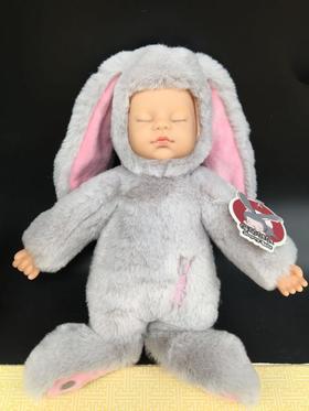 包邮睡梦 睡萌娃娃中号兔子仿真睡宝宝睡眠娃娃毛绒公仔安抚娃娃