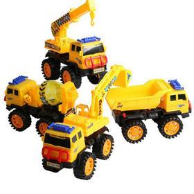 厂价小号儿童耐摔玩具工程车滑行挖掘机搅拌车载土车工程车模型