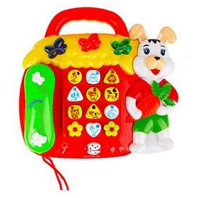 家乐谷小白兔益智早教学习机宝宝音乐电话机婴幼儿启智玩具