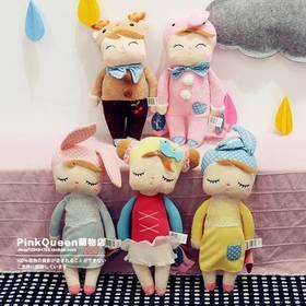 兔女孩安吉拉娃娃公仔玩偶宝宝陪睡安抚娃娃毛绒玩具生日礼物