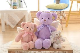 天使泰迪熊公仔带翅膀的熊毛绒玩具梦幻天使泰迪熊生日礼物