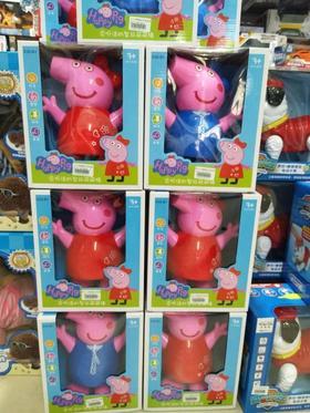 会说话的粉红小猪佩奇佩佩乔治走路唱歌电动玩具卡通动物玩具鸡狗