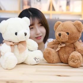 蝴蝶结小熊公仔小号女生抱抱熊毛绒玩具布娃娃玩偶生日礼物送女友