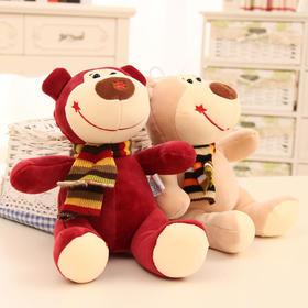 可爱围巾小熊公仔毛绒玩具泰迪熊布娃娃抛洒抓机礼品创意生日礼物