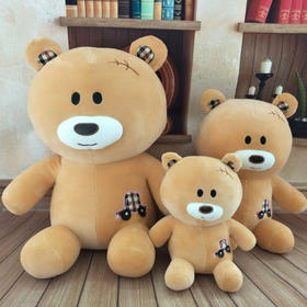 时光小站 时尚汽车小熊毛绒玩具抓机娃娃彩色小熊生日礼物送女友