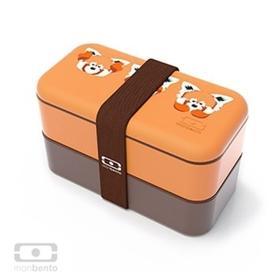 法国Monbento 双层原味便当盒分格饭盒餐盒 可微波加热日式饭盒