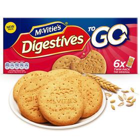 12盒超值装! 英国进口 Mcvitie's 全麦粗粮酥性原味饱腹消化饼干麦维他 代餐饼干