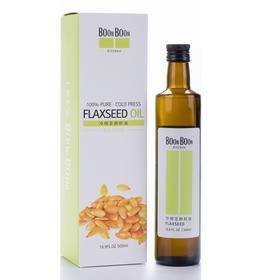 【自营】冷压榨亚麻籽油 食用油炒菜油凉拌沙拉油 500ml瓶