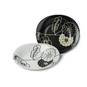 Omelko中西餐盘子美浓烧陶瓷碟子2件套装