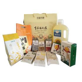 谷道优粮年货大礼包礼盒+稻花香真空2.5kg*5