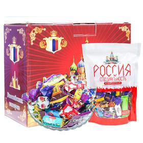 【预售2月2日发货!】俄罗斯恭贺新禧什锦糖果大礼盒 40余种进口糖果(净重1kg/礼盒,限乌市地址!)
