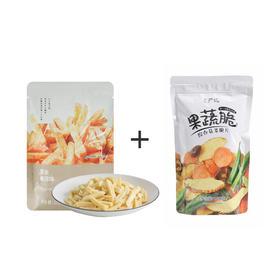 薯条脆+综合菇菜脆片 200克 4种口味