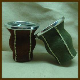 阿根廷特色|马黛茶壶-皮+玻璃制