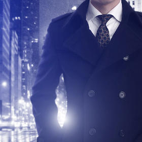 男士毛呢双排扣短大衣
