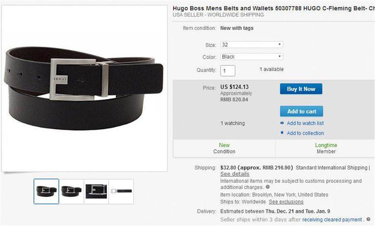 09454b8a1e8c HB C-Fleming Reversible Leather Belt 红标老板双面扣头真皮腰带- 一颗 ...