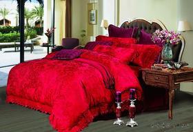 婚庆提花七-十件套  送枕芯一对天然蚕宝被一张