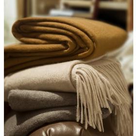 【CACHEMIRE&SOIE】100%内蒙阿拉善纯羊绒披肩 经典纯色  居家外出两用