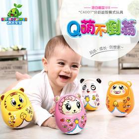 美致春天宝宝不倒翁大号点头摆件娃娃早教儿童益智不到翁宝宝玩具
