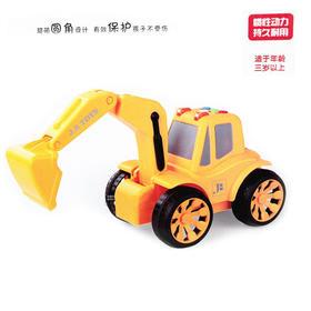 包邮杰邦惯性工程车JB206挖掘机带声光儿童玩具车1:24勾车玩具