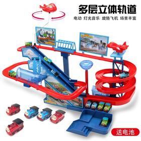 托马斯小火车轨道套装电动多层爬楼梯轨道车拼装儿童玩具23456岁