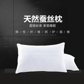 邵氏蚕丝 桑蚕丝枕芯 助睡眠枕   全棉 75g桑蚕丝   拍一个直接发2个蚕丝枕头