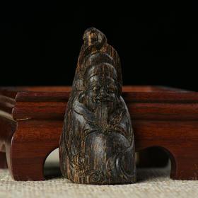 达拉干 沉水级 沉香财神雕件 5.66g 180118-5A