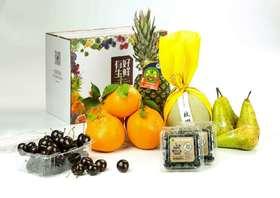 水果套餐1(6个品种、智力车厘子500g、不知火丑橘5个、智利蓝莓2盒、日本网纹蜜瓜1个、DOLE菲律宾金菠萝1个、比利时长啤梨4个)