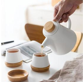 水悦瓷木茶具