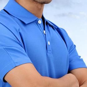 短袖t恤男保罗POLO衫  双丝光棉运动平纹T恤