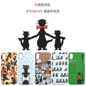 大英图书馆黑猫插画手机壳   iPhone 7/7P/8/8P/X丨微浮雕工艺丨大英图书馆授权