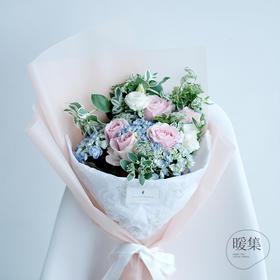 【盛夏的风】粉绿色系鲜花花束