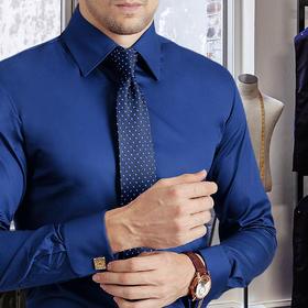 尊轩男士修身法式/英式袖扣商务绅士长袖纯棉 多色可选
