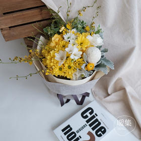 【原野雨声】乒乓菊黄白色系鲜花花束