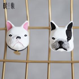 【丸子】法斗狗年汽车出风口香薰石膏