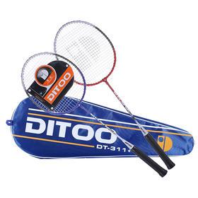 正品蒂图碳铝合金羽毛球拍2支 含包装 赠三球  【24小时闪电发货】