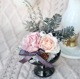 【蒙马特】蛋糕托永生花永生玫瑰摆件家居摆件
