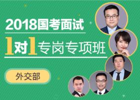 2018年国考面试1对1专岗专项班(外交部)