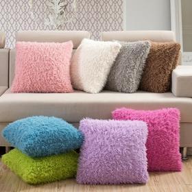 山羊绒方形抱枕  45x45CM