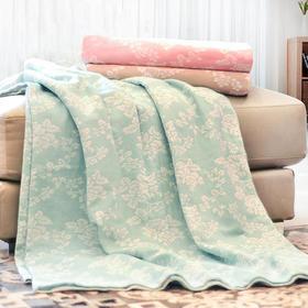夏季纯棉提花双层纱空调毯  轻薄透气不掉毛
